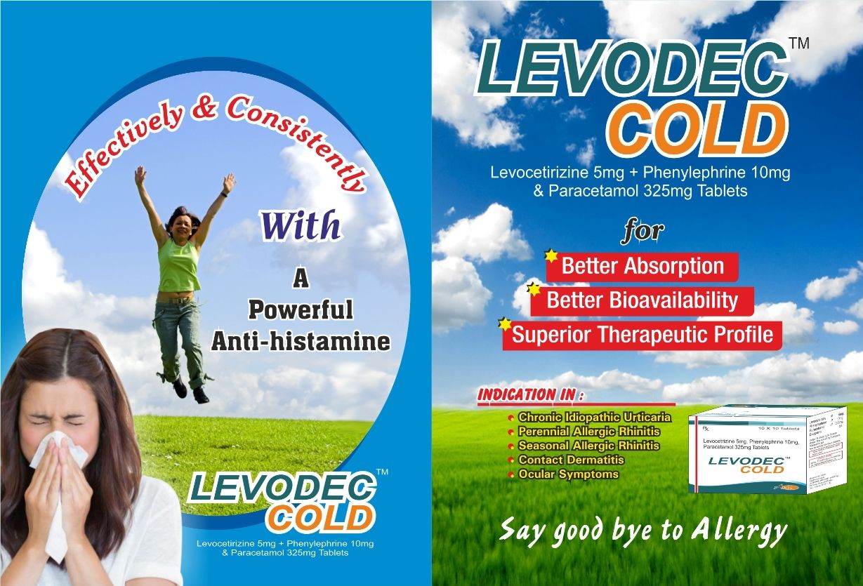 Levocetirizine 5mg + Phenylephrine 10 mg & Paracetamol 325 mg Tablets