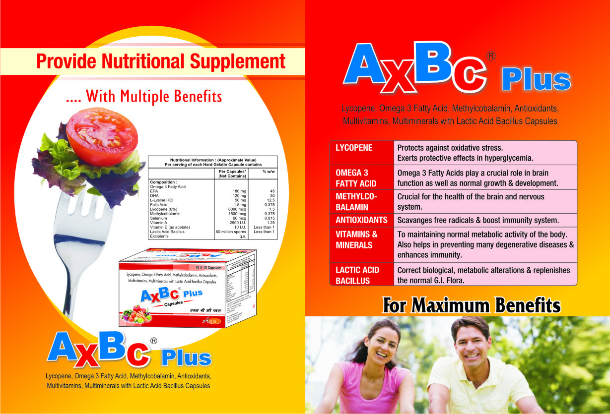 Lycopene, Omega 3 Fatty Acid, Methylcobalamin, Antioxidants, Multivitamins, Multiminerals with Lactic Acid Bacillus Capsules.